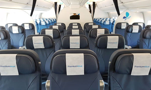 French blue se dote son tour de l 39 a350 for Interieur paris premiere
