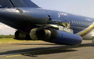 Photo : Atterrissage dur pour un DC-9 v�n�zu�lien