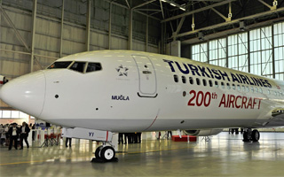 Turkish Airlines re�oit son 200�me appareil