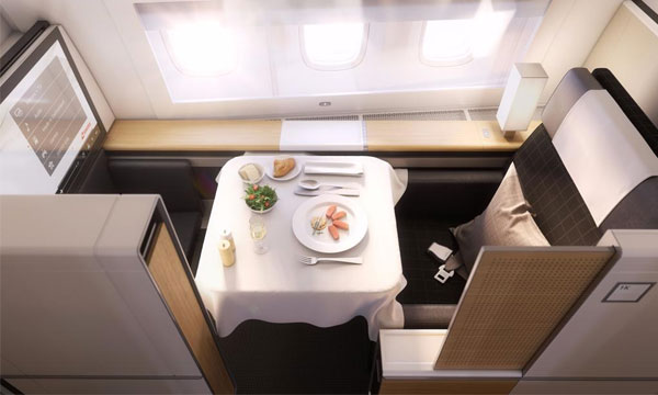 Swiss pr�sente les cabines et les destinations des Boeing 777