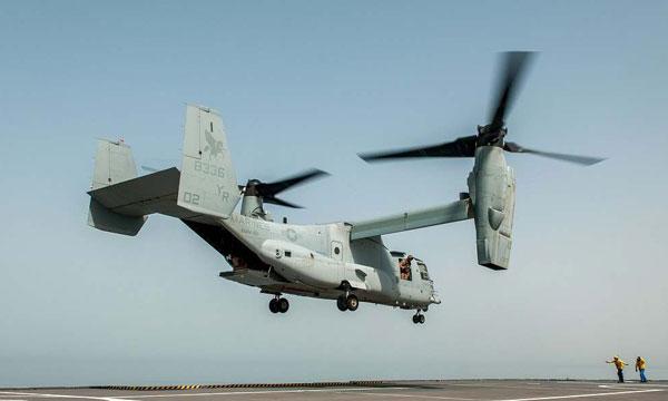 Le V-22 valide son interop�rabilit� avec les BPC