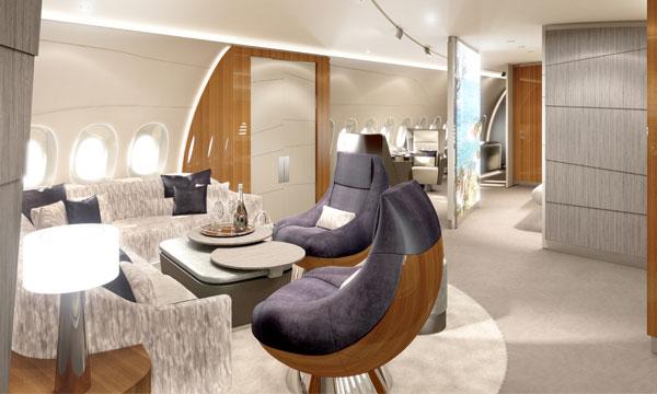 Lufthansa Technik fourmille déjà d'idées pour aménager l'Airbus ACJ350 XWB