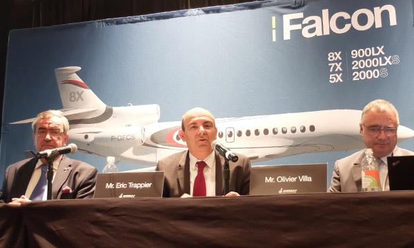 NBAA : Dassault dévoile une nouvelle cabine pour le Falcon 900LX et planche sur son futur programme