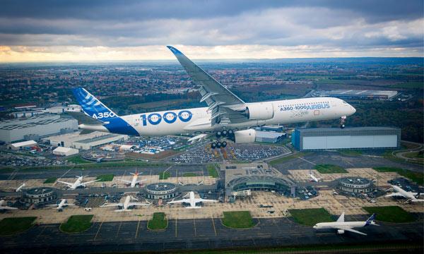 L'A350-1000 démarre une très intense campagne d'essais en vol