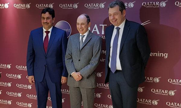 Akbar Al Baker inaugure le nouveau salon de Qatar Airways à Paris CDG