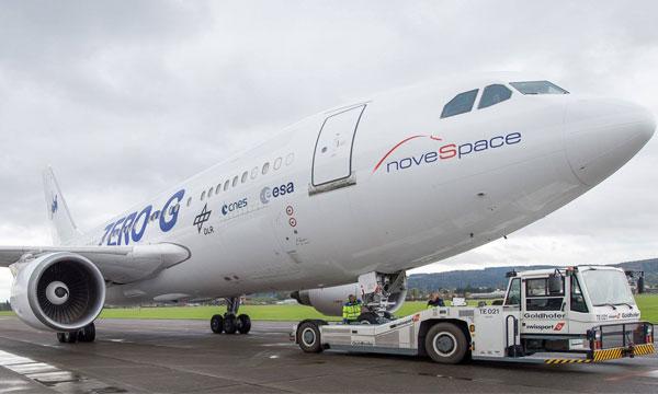 Les vols de l'A310 ZERO-G  de Novespace vont s'exporter en Chine