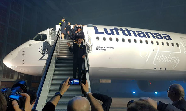 L'Airbus A350 de Lufthansa fait son show