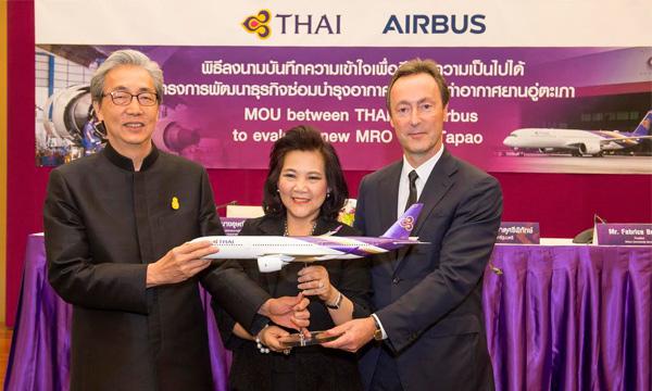 Airbus s'intéresse de très près au centre MRO de Thai Airways à U-Tapao