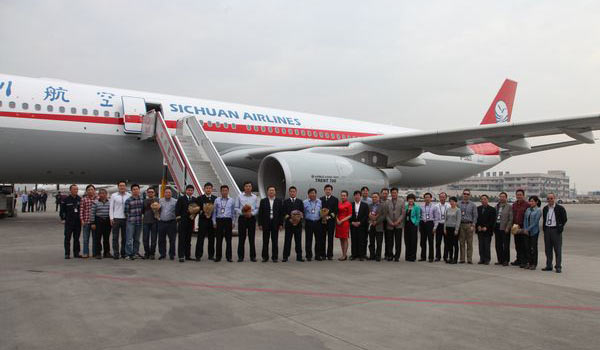 Photos sichuan airlines r ceptionne son premier airbus for Singapore airlines sito italiano