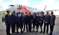 Le 1er A350 d'Air Mauritius se pose sur l'île Maurice
