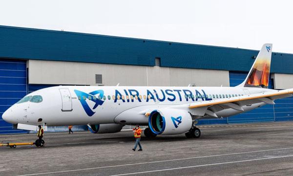 Le premier Airbus A220 d'Air Austral fait son apparition