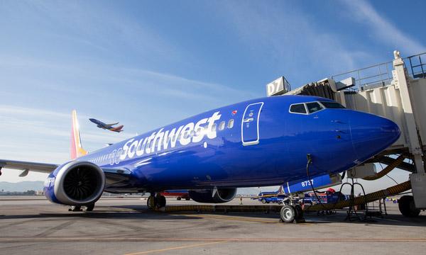 Southwest Airlines reçoit sept Boeing 737 MAX