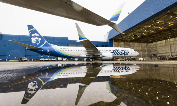 Alaska Airlines reçoit son tout premier Boeing 737 MAX