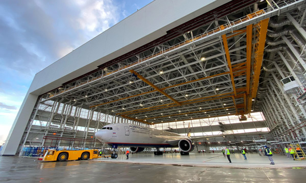Aeroflot starts using a new hangar at Sheremetyevo and takes over the heavy maintenance of its Boeing 777s