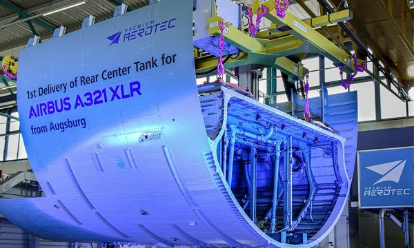 Le premier réservoir central arrière de l'Airbus A321XLR est prêt