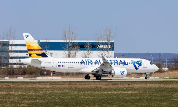 Air Austral réceptionne son 1er Airbus A220