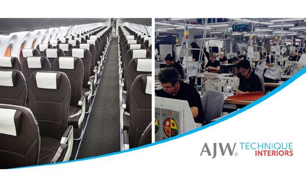 AJW lance une entité spécialisée dans les intérieurs d'avion