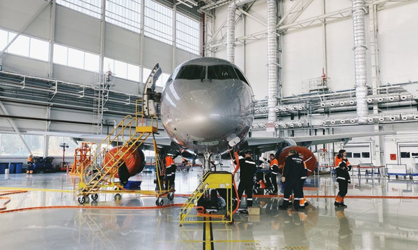 A-Technics starts its first C-check on the Superjet 100