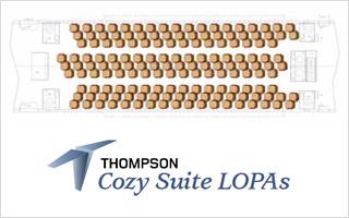 Aircraft Interiors : Thompson mise toujours sur la diagonale pour densifier les cabines des long-courriers