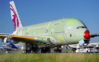 Photo : Qatar Airways présente son 1er A380