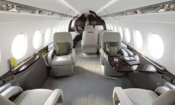 En images : la cabine du nouveau Falcon 5X de Dassault