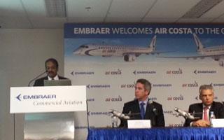 Salon de Singapour : Air Costa, nouveau client de la famille E-Jet E2 d'Embraer