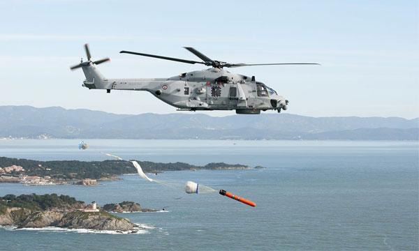 Le Caïman Marine prêt à tirer des MU90