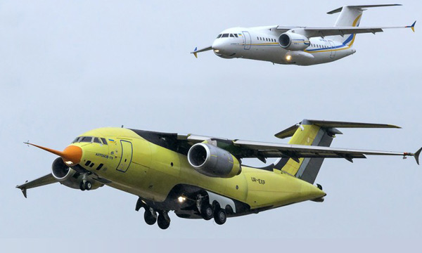 Vol inaugural de l'Antonov An-178