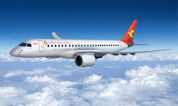 Tianjin Airlines confirme une partie de sa commande d'Embraer