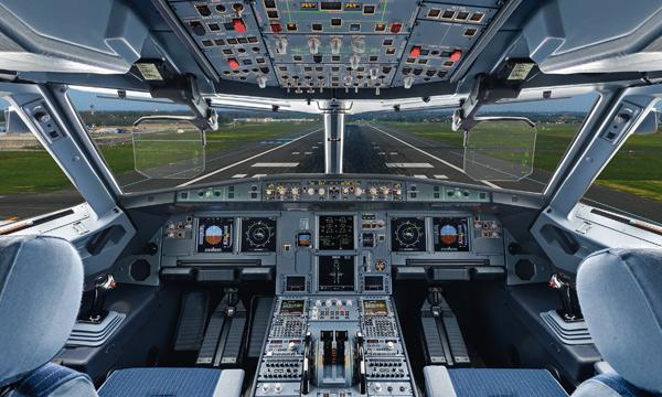 La famille A320 d'Airbus certifiée en double HUD