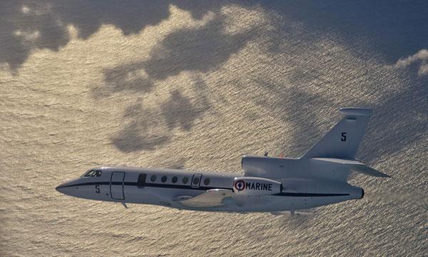 Premier vol d'un Falcon 50 de la Marine nationale au profit d'EUNAVFOR MED