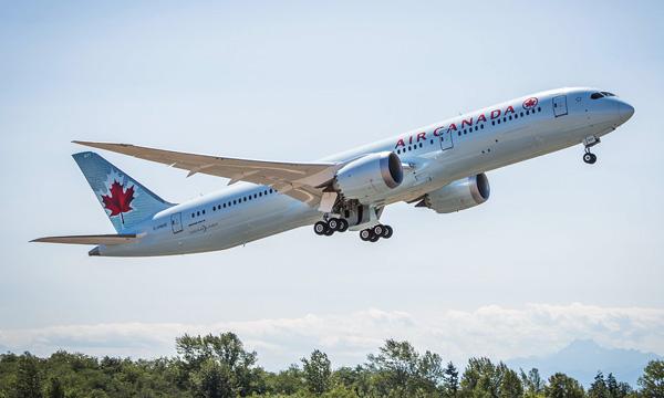 Photo : Air Canada reçoit son 1er Boeing 787-9