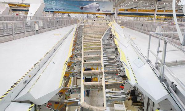 En images : La voilure de l'Airbus A350-1000 prend forme