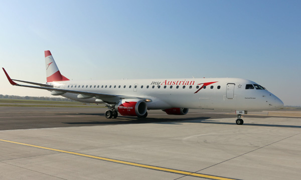 Austrian Airlines devient nouvelle opératrice de l'Embraer 195