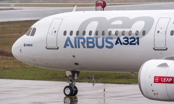 L'Airbus A321neo subit un tail-strike