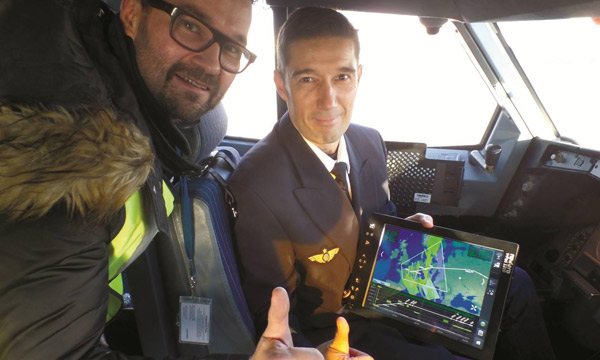 Air France a testé avec succès le téléchargement de données MTO sur EFB via ACARS