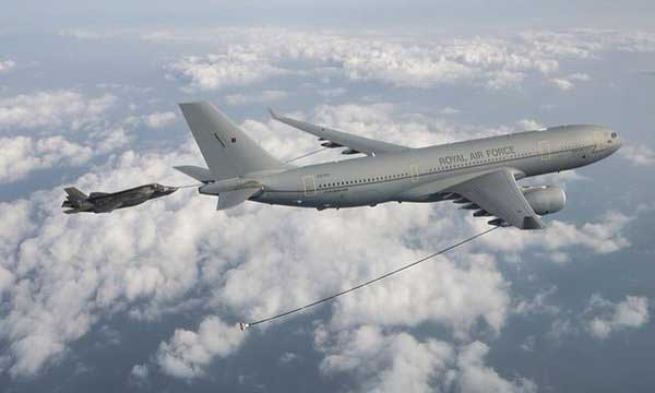 L'A330 MRTT s'essaie au ravitaillement du F-35B