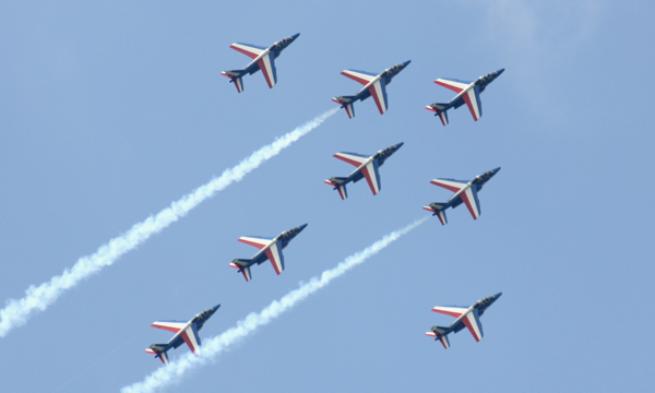 Les ambassadeurs de l'armée de l'air de retour dans le ciel français