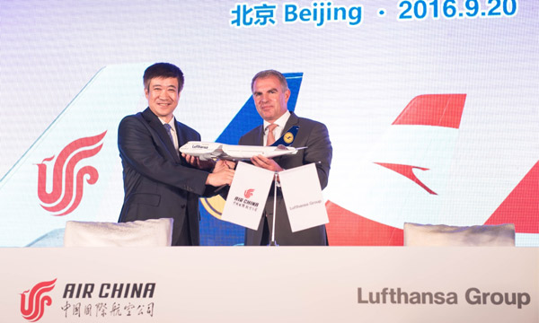 Gros accord commercial entre Air China et le Groupe Lufthansa