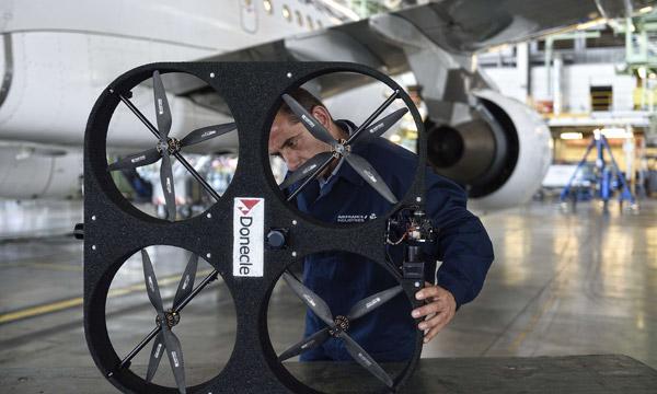Un drone pour l'inspection de l'intégrité des structures avions
