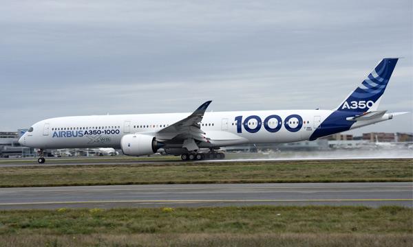 Le 1er vol de l'Airbus A350-1000 prévu pour le 24 novembre à Toulouse