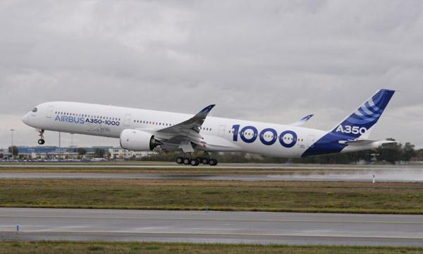 Un vol inaugural très prometteur pour le nouvel A350-1000 d'Airbus