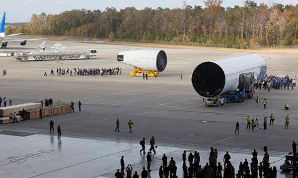 Photo : le 787-10 se rapproche de l'assemblage final