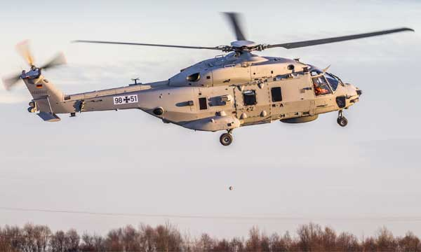 Le NH90 Sea Lion décolle