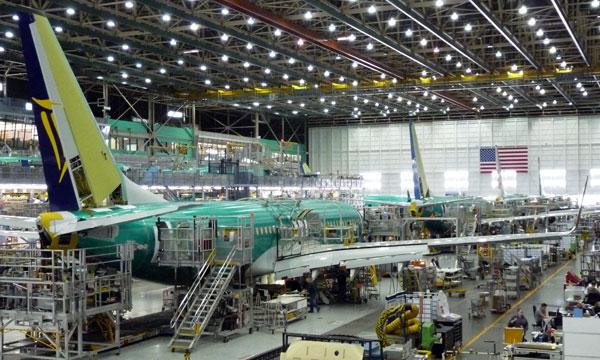 Boeing livre 748 appareils en 2016