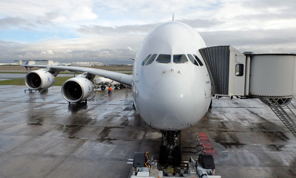 En images : À bord du dernier vol de l'A380 d'essais MSN4 à destination du Bourget