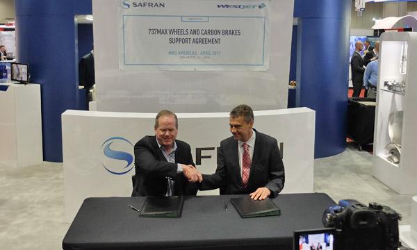WestJet équipera ses 737 MAX des roues et freins carbone de Safran