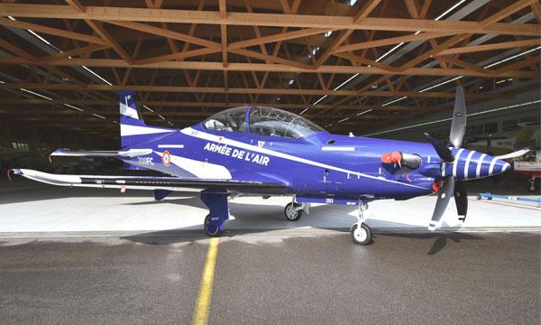 Bourget 2017 : Le PC-21 de l'armée de l'air dévoile ses couleurs