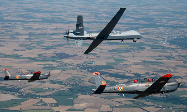 Le MQ-9 Reaper s'envole en France