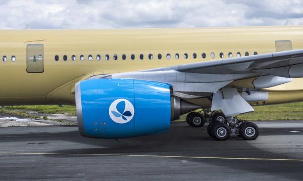 Sabena technics is fitting the cabin in French Blue's 1st Airbus A350